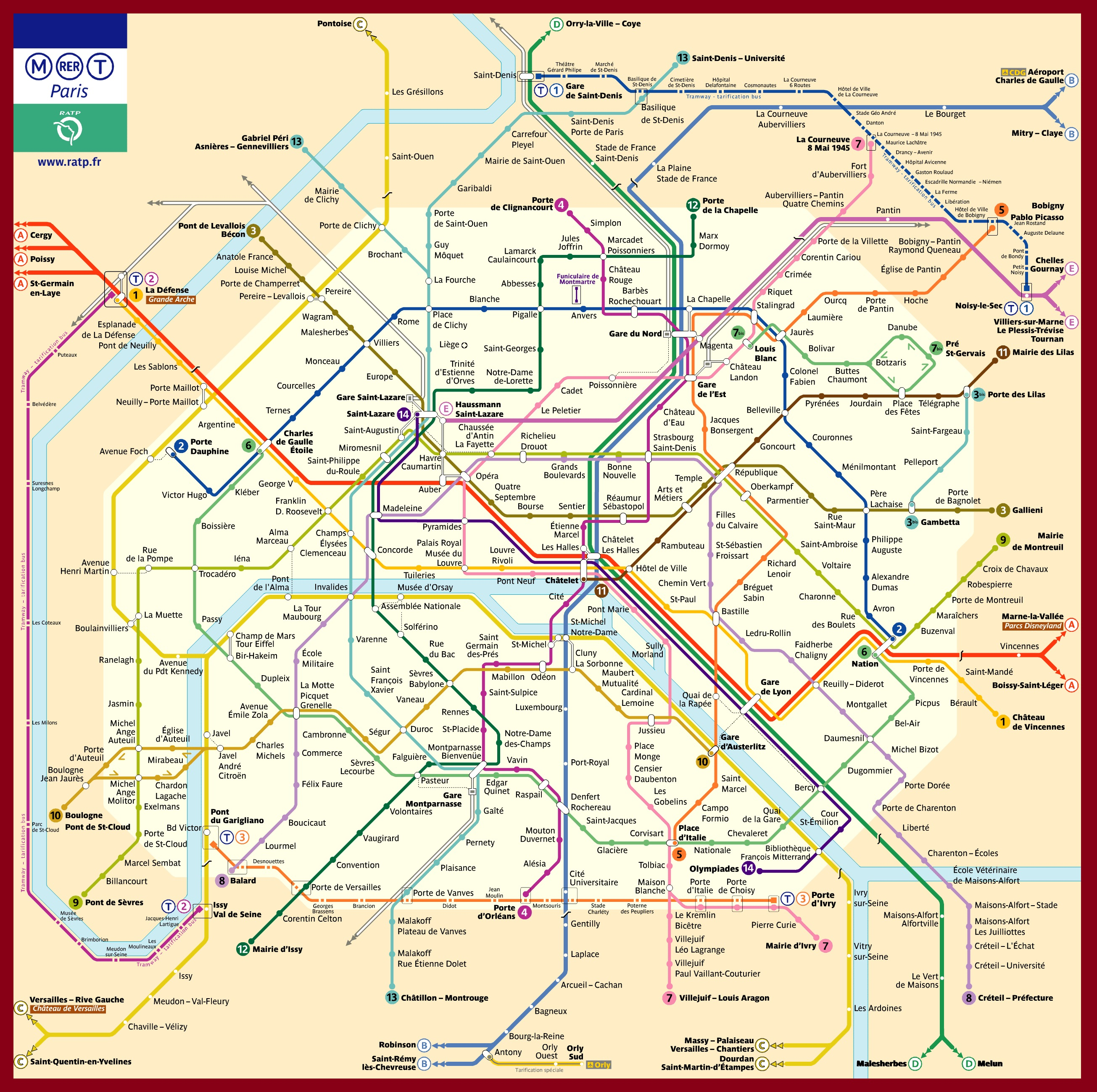 plan métro paris 2016 PDF